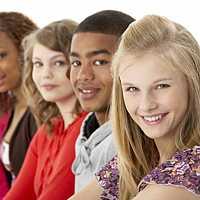 Racially diverse teens/tweens. Teen / tween empowerment.
